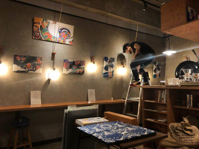 知花幸修の紅型と型染展「Un cafe, s'il vous plait」2019/02.20~03.17